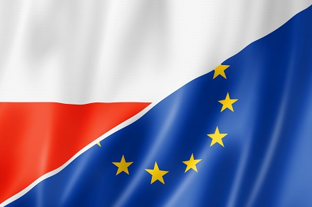 Poland and Europe flag